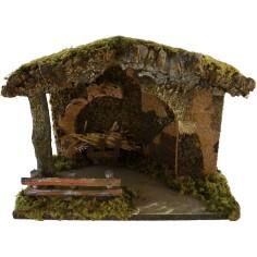 World Nativity Hut for the crib cm 33x18x24
