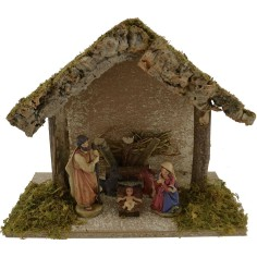 World Nativity manger with nativity cm 25x12x20