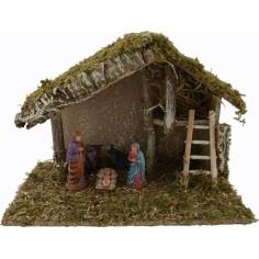 World Nativity manger with Nativity Landi and cm scale 32x17x22