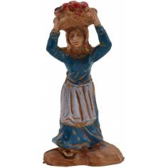 Mondo Presepi Donna con cesto sulla testa 3,5 cm