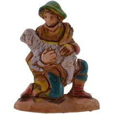 Mondo Presepi Pastore inginocchio con pecora 3,5 cm