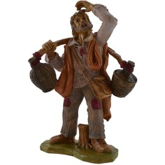World Nativity Man with demijohns on the shoulders 20 cm Euro
