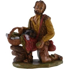 World Nativity scenes Man on his knees with gifts 20 cm Euro