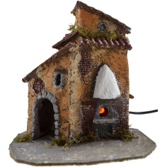 World Nativity House in the resin with the oven running cm