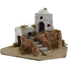 Mondo Presepi Case Arabe nel villaggio cm 35x30x23 h.