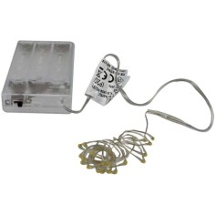 20 Micro led battery operated cold white light christmas