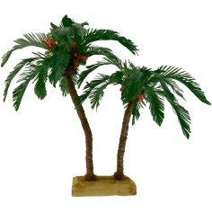 Double palm 22 and 15 cm nativity scene
