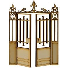 Cancello in legno con ante...