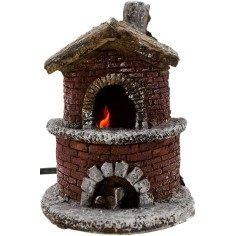 World Cribs Oven in the resin functioning nativity cm