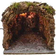 World Nativity Cave illuminated nativity cm 25x25x21 h.