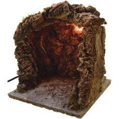 World Nativity Cave nativity scene illuminated cm 20x20x20 h.