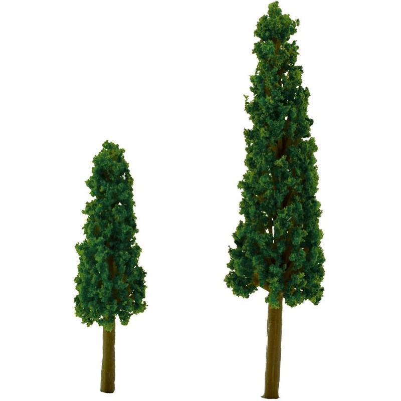 World Nativity Set 2 cypress h. 6-9 cm crib