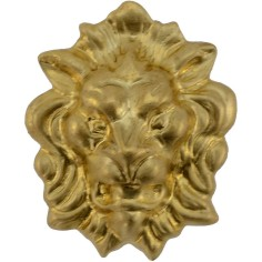 Lion head in brass 2.7x3.5 cm