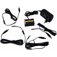 Kit 4 yellow flickering LED burners with power supply