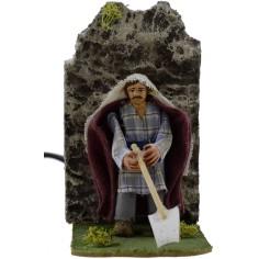 8 cm peasant hoe moving nativity scene