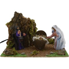 World Nativity Nativity 8 cm movement cm 20x18x12 h.