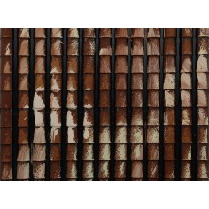 Pannello tegole antichizzate cm 24,5x23 Mondo Presepi