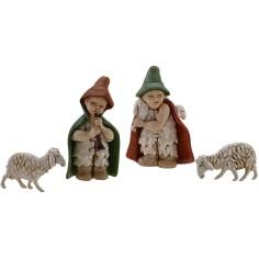 Mondo Presepi Set 2 statue e 2 pecore per presepe child 7 cm