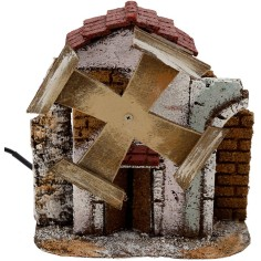 World Nativity Windmill working for the crib cm