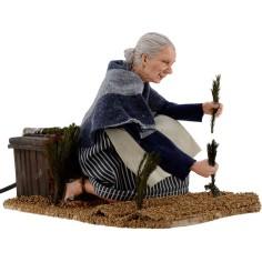 Donna nell'orto in...