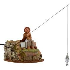 Mondo Presepi Bambino pescatore 12 cm in movimento Fontanini