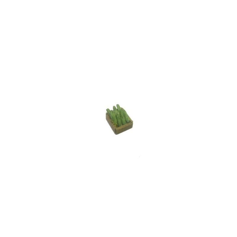 Mondo Presepi Cassetta verdura Zucchine cm 2,8x2