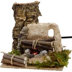 Mondo Presepi Fuoco per presepe funzionante con legna cm