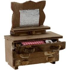 Dresser with mirror cm 6,5x3x8 h.