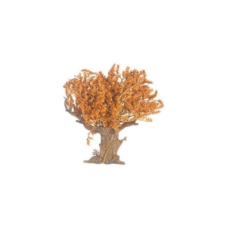 Mondo Presepi Albero foglie rosse h. 18 cm