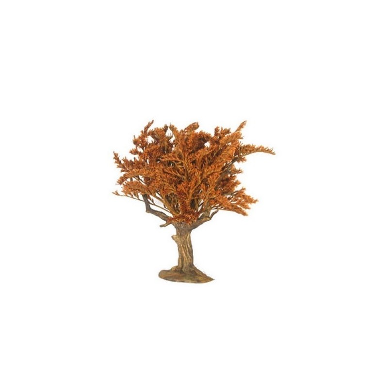 Mondo Presepi Albero foglie rosse h. 14 cm