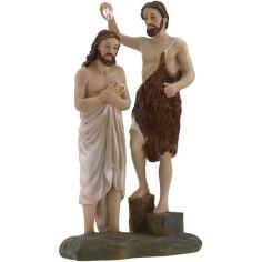 Scena Battesimo di Gesù 20 cm Statue Pasquali