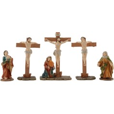 World Presepi Crucifission with statues 10 cm in resin