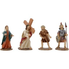 World Presepi Climb to Calvary with statues 9 cm in resin