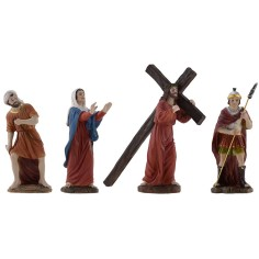 Ascent to Calvary with statues 12-13 cm h. Easter statues