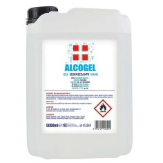 Gel igienizzante mani tanica 5 litri con alcool 70%