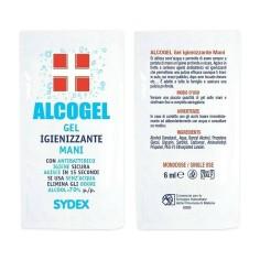 Bustine gel igienizzante mani alcogel 6ml, alcool 70%