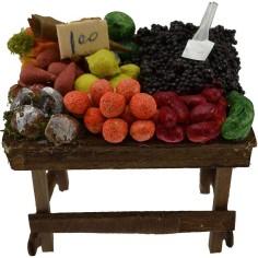 Mondo Presepi Banco frutta e verdura presepe cm 9,5x6x4,5 h.