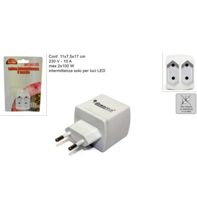 World Presepi Plug intermittent for lights at Led 2x100W presepe