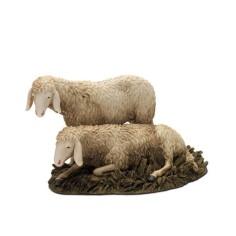 World Presepi Two sheep in resin Landi Moranduzzo for statues