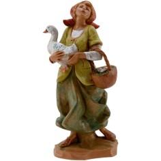 World Presepi Woman with goose 19 cm Fontanini