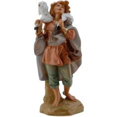 Mondo Presepi Pastore con agnello sulle spalle 19 cm Fontanini