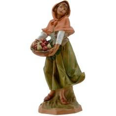 World Presepi Woman with Cesto 19 cm Fontanini
