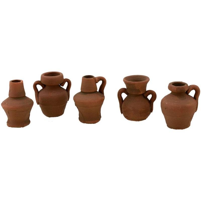 Set 5 amphorae 2.5 cm P-A6371