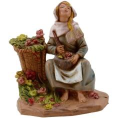 Mondo Presepi Donna con vasi di fiori serie 12 cm Fontanini