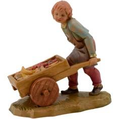Mondo Presepi Bambino con carretto serie 12 cm Fontanini