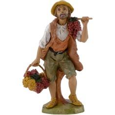 World Presepi Pastor with grapes 20 cm Euromarks