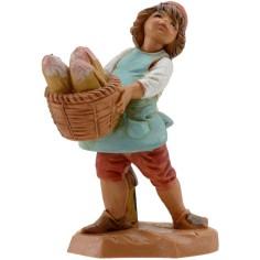 World Presepi Child with basket of bread series 12 cm Fontanini