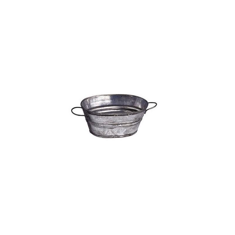 3.5 cm oval metal tub