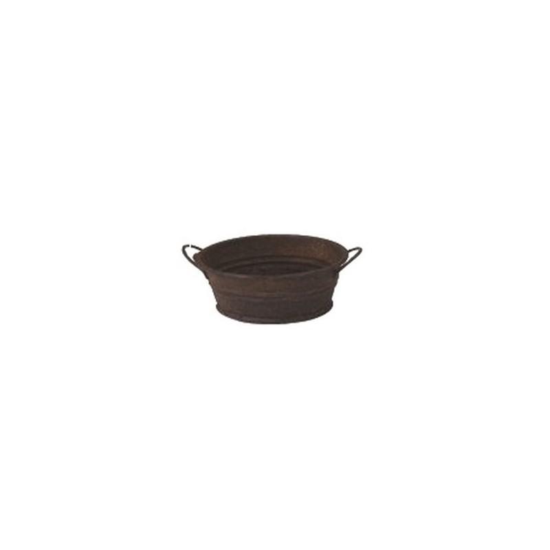 Tinozza antichizzata ovale cm 3,5 in metallo Mondo Presepi