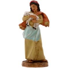 Donna con pecora 9,5 cm Fontanini Mondo Presepi